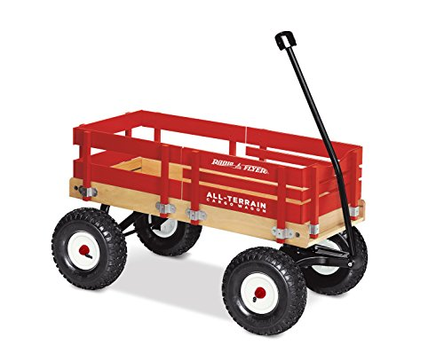 Radio Flyer All-Terrain Cargo Wagon, Red Wood