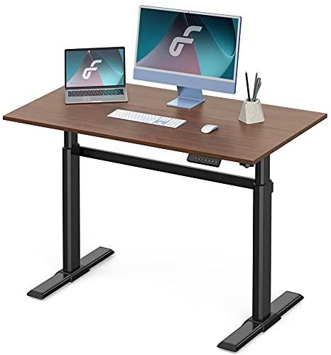 Fenge 電動昇降デスク スタンディングデスク 昇降デスク 高さ調節 パソコンデスク 天板入り セット商品 ED-...