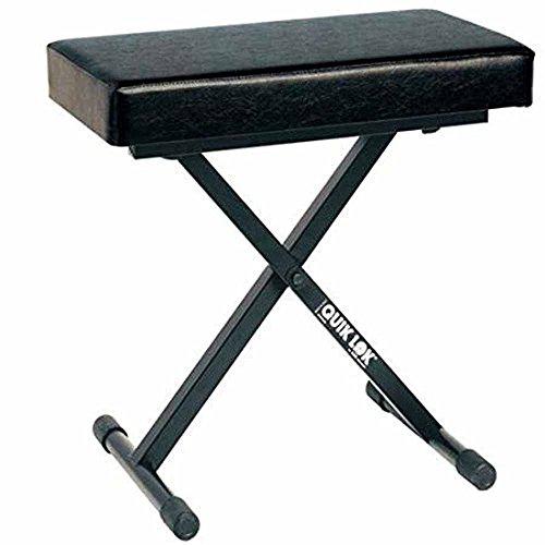 Quik Lok BX / 718Deluxe piano bank met extra dik zitkussen (30 x 60 cm)