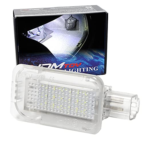 iJDMTOY Super Bright 2W High Power Xenon White Full LED Trunk Cargo Area Light Assembly Compatible With Honda, Compatible With Acura, Powered by 18-SMD LED Diodes