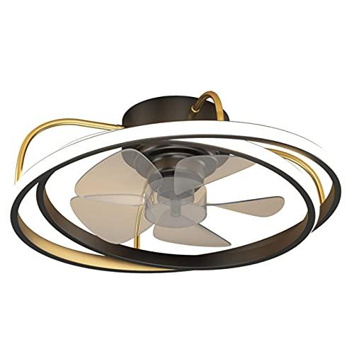 Luces de ventilador invisibles del hogar, luces de ventilador de dormitorio silenciosas, luces de ventilador de techo, luces de techo