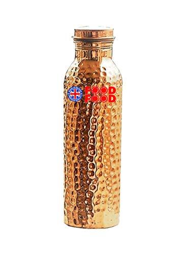 Food Food Food Kitchen Botella de agua de cobre dorado 1L