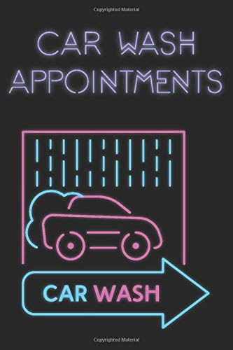 Car Detailing Auto Wash Service Appointment Book   Undated Daily Hourly Planner Journal Notebook Calendar   Start Any Time   120 Pages: Book 15 min ... and Well Organized   Neon Pink Light Blue