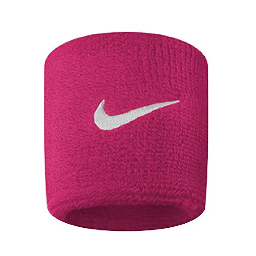 Nike Swoosh Wristbands vivid pink/white, 2er Pack