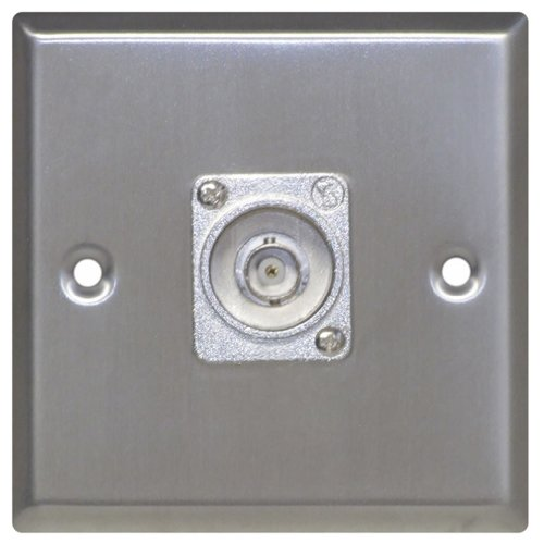 Metal AV Wall Plate with BNC Socket