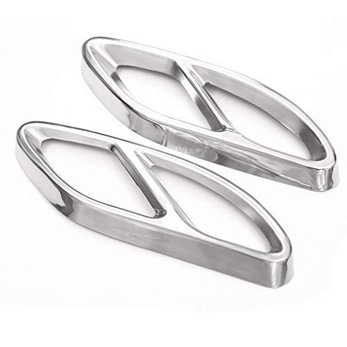LQIAN Fit for Mercedes Benz GLC A B C E-Klasse W205 Coupe W213 W176 W246 2016-17 Autotechnik AMG Auspuff Verkleidung Trim 304 Stahl Auspuff Verkleidung Trim (Color : Silver)