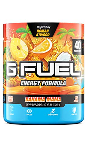 G Fuel Bahama Mama Elite Energy Powder Inspired by Roman Atwood, 9.8 oz (40 Servings)