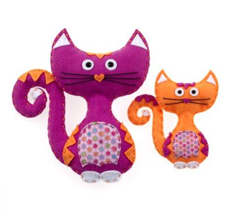 American Girl Crafts Cat Sew and Stuff Activity Kit, DIY Cat Stuffed Animals
