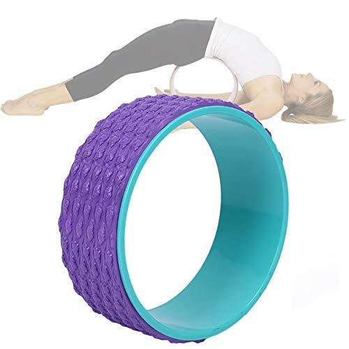 Rueda Yoga Ecológica, Equipo Yoga Principiantes con Peso Ligero Portátil, Antideslizante Transpirable para Aliviar Dolor Espalda Mejorar Flexión Espalda 12.6x5.1in