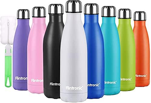 Bienvenido a Personalizar la Botella aislada, Botella de Agua de Acero Inoxidable de 500 ml, Aislamiento al vacío de Doble Pared, Botellas frías/Calientes s