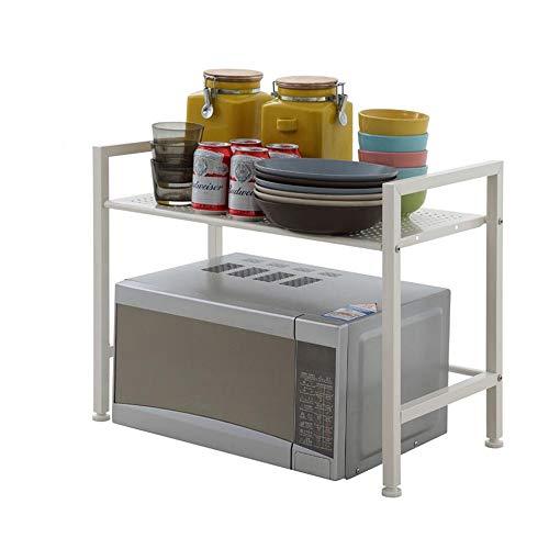 JCNFA-BOEKENPLANK Magnetronstandaard, Desktop Planken, Keuken Opbergrek, Kruidenrek, Schroefmontage, Wit (Color : White, Size : 23.62 * 12.9 * 18.89in)