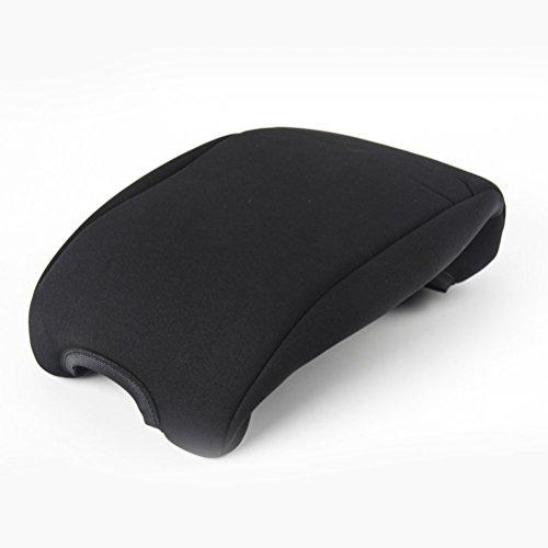WINOMO - Funda acolchada universal para reposabrazos de coche, consola central, cojín para todas las estaciones, color negro