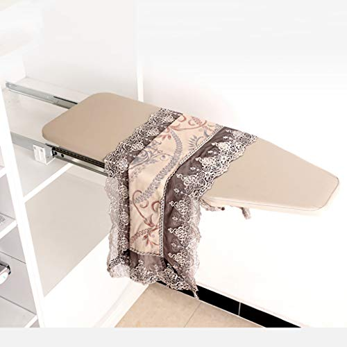 TT&CC Home Pullout Ironing Board, Closet Pull-Out Drawer Easy to Installation Space Saving Scorch Resistant Folding Retractable Iron Board-A 81x30cm(32x12inch)