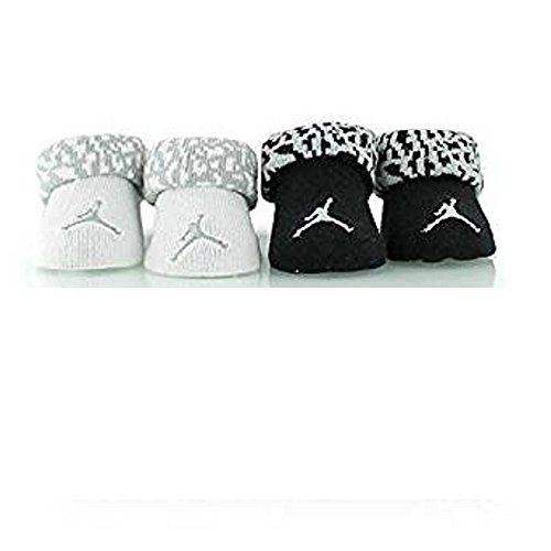 jordan kids 2PC Booties black/white