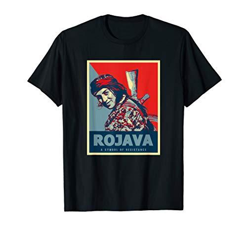 Kurdische Rojava Design Kurdistan YPG Kämpfer Hope T-Shirt