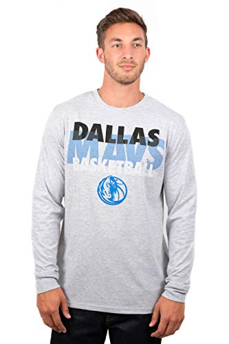 Ultra Game NBA Supreme Langarmshirt, Herren, T-Shirt Supreme Long Sleeve Pullover Tee Shirt, Grau meliert, Large