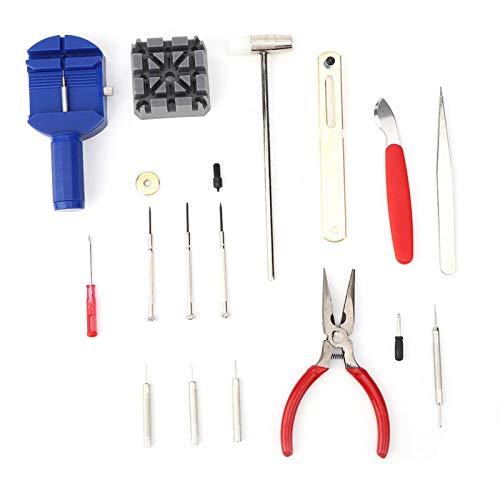 Kit de reparación de relojes portátil de 16 piezas, mano de obra fina de acero de aleación profesional sólido para relojero