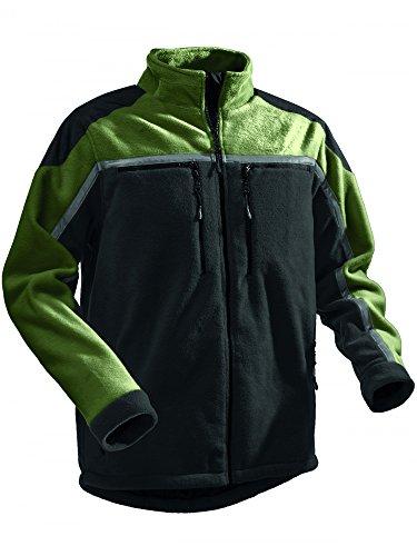 Pfanner Jobby Colour Fleecejacke 102344, Größe:S, Farbe:grün/schwarz