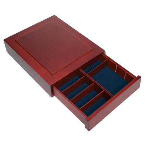 SAFE 6880 Sammelkassette Sammelbox Münzbox Setzkasten aus edlem Holz incl. 6 Stege für Münzen 100 Goldeuros im original Etui - Mineralien Ü-Eier Kleinfiguren Parfümflacons usw.