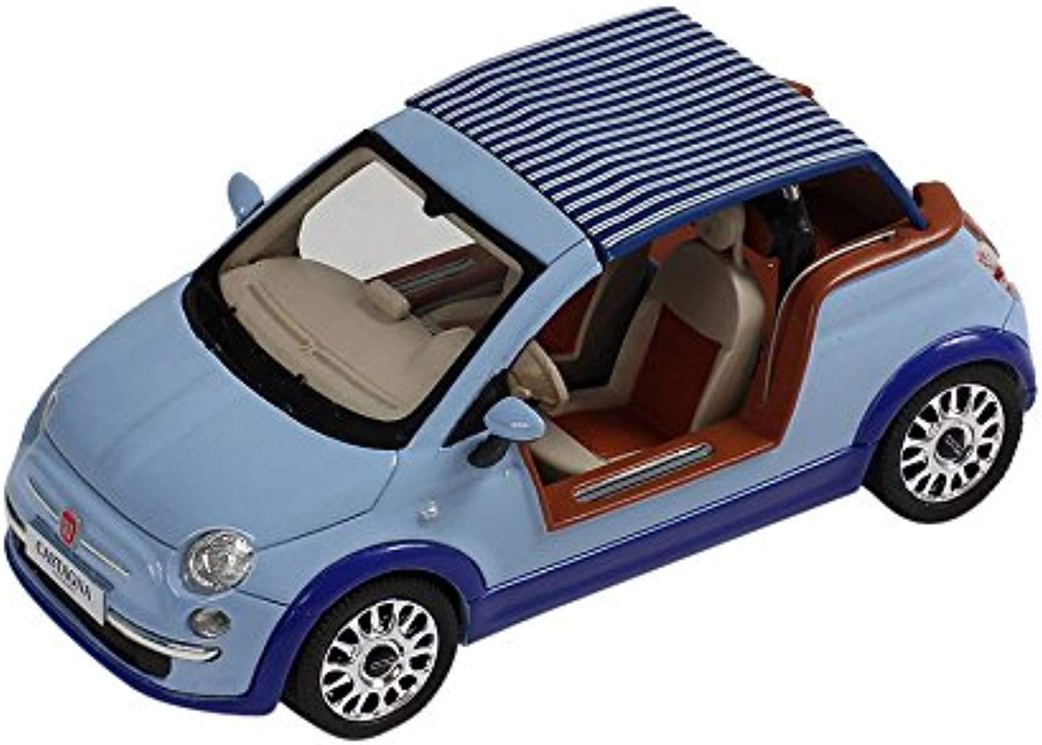 PremiumX 1 43 Scale 2008 Fiat 500 Tender Two Castagna Milano Model Car (Light bluee)