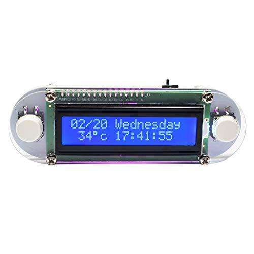 Candlelight LCD1602 - Reloj con vibración para manualidades, kit de aprendizaje electrónico, recordatorio de vacaciones, con estuche