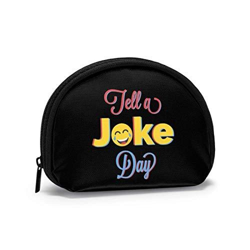 Tell A Joke Day Kleine Geldbörse Brieftasche mi-NI Kosmetiktaschen Reißverschlusstasche für Frauen