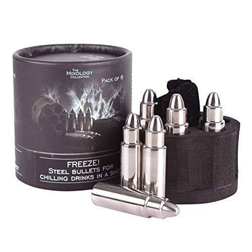 Patronen Eiswürfelformen aus Metall mit Tasche im 6er Set