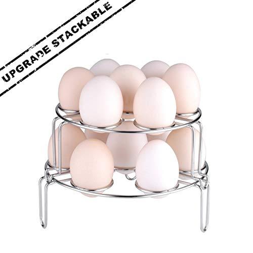 Version améliorée cuiseur vapeur Rack, Moveland empilable œufs Légumes Vapeur Dessous de Plat pour Instant Pot Autocuiseur