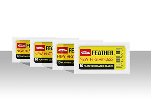 Feather - Pack de 40 cuchillas de doble hoja