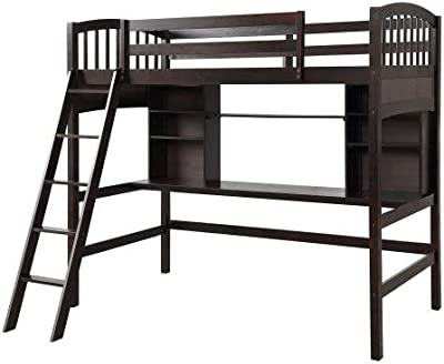 Amazon Com Popsicle Midsleeper Twin Loft Bed With Slide