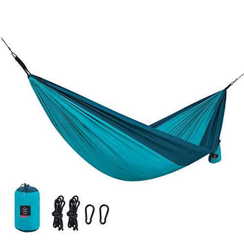 Yunyisujiao Hangmat, outdoor camping en vrije tijd, voor in de tuin, hangmat, outdoor, dubbele rolgordijn, hangmat, schommel, hangmat, veld, camping, stoel, enkele hangmat, belastbaarheid 180 kg