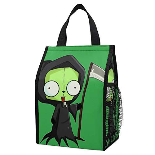 Invader-Zim Leakproof Insulated Lunch Tote Bag - Durable Reusable Lunch Box Container for Women/Men/Kids/Picnic/Work/School-Black.
