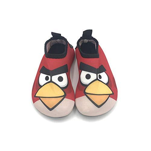 Vast Zapatos de agua de playa de verano con suela de 5 mm, calcetines de buceo descalzos para nadar de secado rápido (tamaño: 32-33 (18-19 cm), color: color 01)