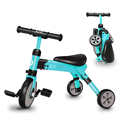 XJD Kids Tricycles for 2 3 4 Years Old and Up Boys Girls Tricycle Kids Trike Toddler Tricycles for 2-4 Years Old Kids Toddler Bike Trike 3 Wheels Folding Tricycle Kids Walking Tricycle Walk Trike