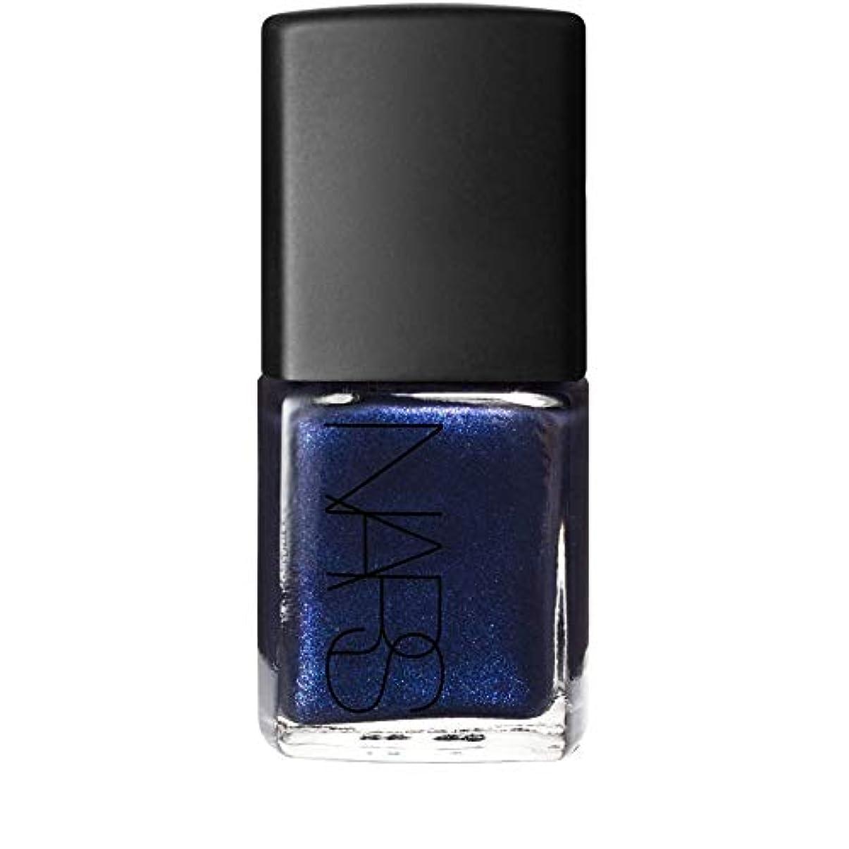 動機付ける通り拒絶する[Nars] 青色の夜間飛行の真珠でのNarマニキュアを - Nars Nail Polish in Night Flight Pearl Blue [並行輸入品]