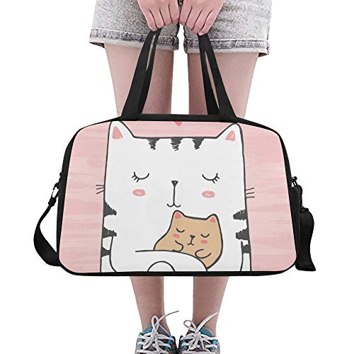 Kawaii Fat Cute Cat Funny Love Custom Gran Gym Totes...