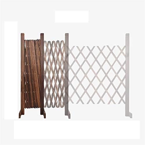 Zaun, expandierende hölzerne Gitterplatten, dicke Upgrade Garten Gitter für Kletterpflanzen im Freien dekorativ (Size : 120cmx28cm)