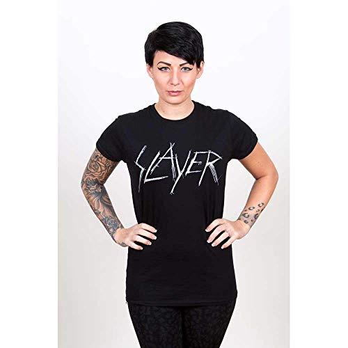 T-Shirt # Xxl Black Femmina # Scratchy Logo