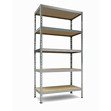 TKT Heavy Duty Shelving 5-Shelf Shelving Unit, 1.925lbs Capacity, 36  Width x 72  Height x 18  Depth