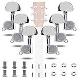 INHEMING 6 Piezas Pomos de Cabezales de Guitarra de Guitarra Clavijas de Afinación de Guitarra Sintonizadores de Cabeza de Máquina para Guitarra Eléctrica o Acústica