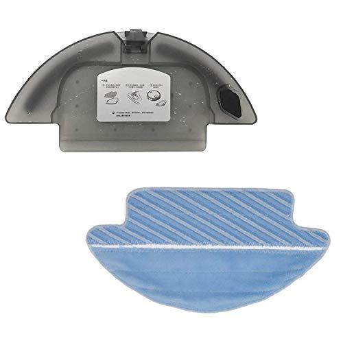 Zealing 1x Tanque de Agua + 1x paño de fregona para Cecotec Conga Serie 3090 Robot Aspirador Repuestos para Tanque de Agua