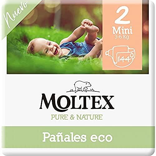 Moltex Pure & Nature Couches écologiques Taille 2 (3-6 kg) - 144 couches