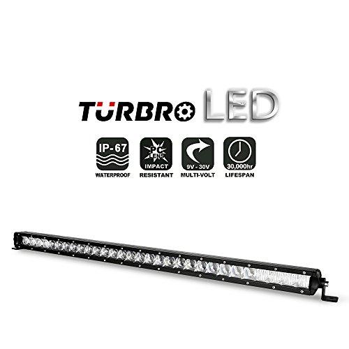 TURBRO SS-Serie Single Row Slim 5D Led Light Bar Combo Beam for Jeep 4X4 ATV UTV (1PCS 31