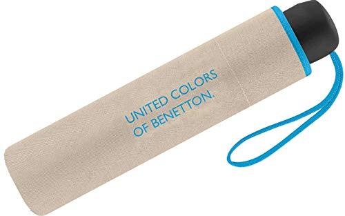 United Colors of Benetton Mini-Regenschirm für Damen, 8Speichen, 95cm Durchmesser Beige beige 95 cm