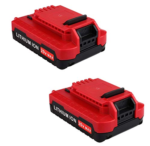 2Pack 2.0Ah PCC680L Battery for Porter Cable 20V MAX Battery Lithium PCC685L PCC680L PCC682L PCC685LP for Porter Cable 20-Volt Lithium Battery