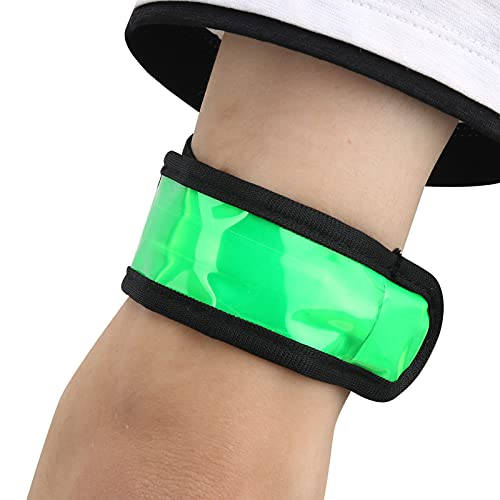 Snufeve6 Brazalete de Luces para Correr, Brazalete LED, Brazalete Deportivo Reflectante Firme para Deportes nocturnos al Aire Libre para Diferentes Grupos de Personas(Green)
