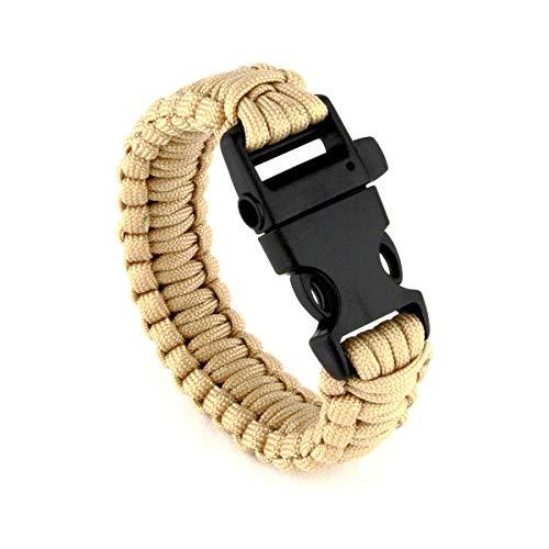 T.O.E. Concept Bracelet de Survie Coyote avec sifflet - Beige