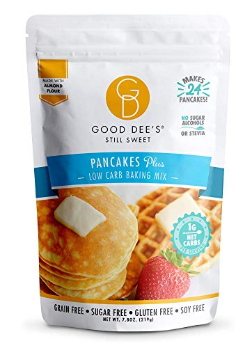Good Dee's Pancake, Waffle & Scone Mix - Low Carb Keto Baking Mix (1g Net Carbs, 20 Pancakes) | Allulose Sweetened, Sugar-Free,...