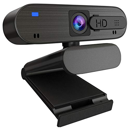ANTZZON 1080P HD Auto Focus Webcam with Privacy Cover, Built-in Noise Reduction Microphone Streaming USB Camera for Zoom Meeting, Conferencing, Online Work&Course, Skype, and Microsoft Teams