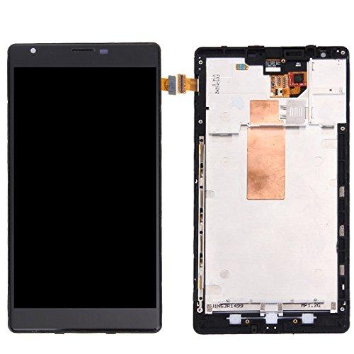 Leluckly1 Reemplace el Viejo para Nokia Pantalla LCD de Repuesto + Marco + Touch Pad + Marco Frontal Pantalla LCD + Panel táctil con Marco for Nokia Lumia 1520 (Negro) para Nokia